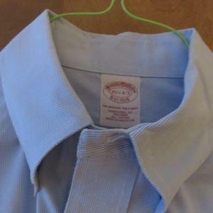 BrooksBrothers blue check  buttondown shirt, euc